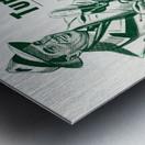 vintage philadelphia eagles miller high life ad poster Metal print