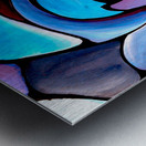Art Deco_Green _Pattern_Aqua_Black Metal print