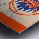 1967 new york mets vintage baseball scorecard poster wall art Metal print