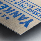 vintage yankees ticket stub metal sign Metal print