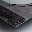 The grey barrier Metal print