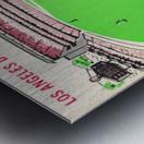 1963 world series ticket stub art la dodgers home decor Metal print