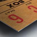 1966 la dodgers baseball ticket stub canvas art Metal print