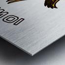vintage iowa hawkeyes wood signs college mascot art Metal print