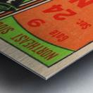 1950 tulane lsu tigers college football ticket sports art gifts baton rouge la Metal print