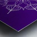 blue flower mandala Metal print