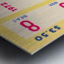 1972 la dodgers field level box baseball ticket stub canvas art Metal print