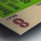 1961 oakland raiders denver broncos afl ticket stub art Metal print