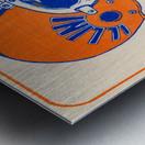 1979 illinois football helmet art Metal print