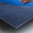Rocher Perce sous glace Metal print