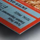 1988NorthCarolinaFootballTicketStubPosterPrint Metal print