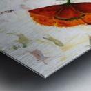 Red poppies 004 Edit Voros  Metal print