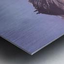 Gergeti in moring sunlight. Metal print