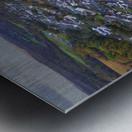 Rainclouds over Ystradgynlais Metal print