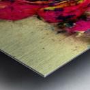 abstract rose Metal print