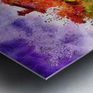 Sunset Autumn Color In Umbria Metal print