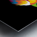 Bird of Prey in Colorful Pop Art Illustration Metal print