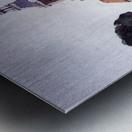 Gracht in Meppel met kerk Metal print