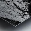 Splash Icicles ap 2147 B&W Metal print