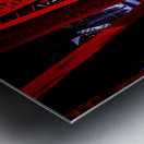 Tunnel of Red Rain Metal print