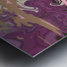 Art Nouveau Pour Metal print