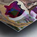 Geode Inside Metal print
