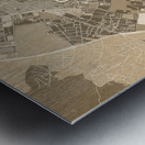 Sepia vintage map of Ibiza Spain Metal print