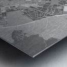 Gray vintage map of Ibiza Spain Metal print