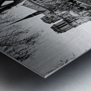 Seine river flood Impression metal