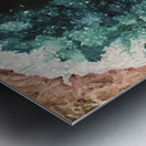 Green Geode Metal print