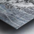Silver Gray Seashell On Ocean Shore Waves And Rocks III Metal print