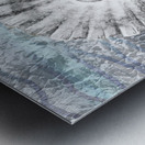 Silver Gray Seashell On Ocean Shore Waves And Rocks V Metal print