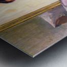 When reading of Figaro by Cassatt Metal print