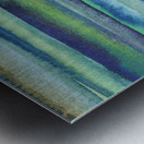 Ocean And Sea Beach Coastal Art Organic Watercolor Abstract Lines VI Metal print