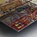 MONTREAL WINTER SCENE MCGILL WINTER WALK NEAR RODDICK GATES Metal print