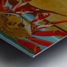 Crab Food Vendor Metal print
