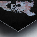 Artistic World Map XII Metal print