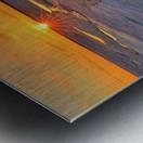 Icy Sunset  Naubinway Michigan Metal print