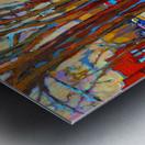 HOCKEY ON DEBULLION MONTREAL WINTER SCENE Metal print