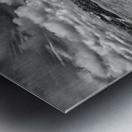 Chair in pool of water - B&W version Metal print