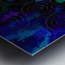 Blue Splash Wings Metal print