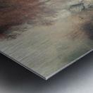 Foggy autumn forest Metal print