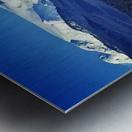 Comox Glacier and Herring Boat Metal print