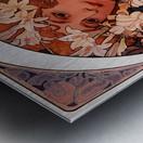 Flowers by Alphonse Mucha Metal print