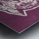 Retro Eighties KSU Wildcats Art Metal print