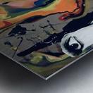 One in Vermillion Metal print
