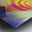Multicolored Experimental Headache 21 Metal print