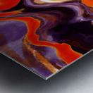 Flaming Paint Pour Metal print