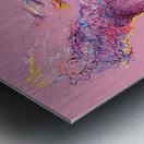 Pink Study East Metal print