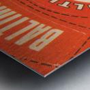 1969 Baltimore Orioles Fleer Cloth Patch Art | Row 1 Metal print